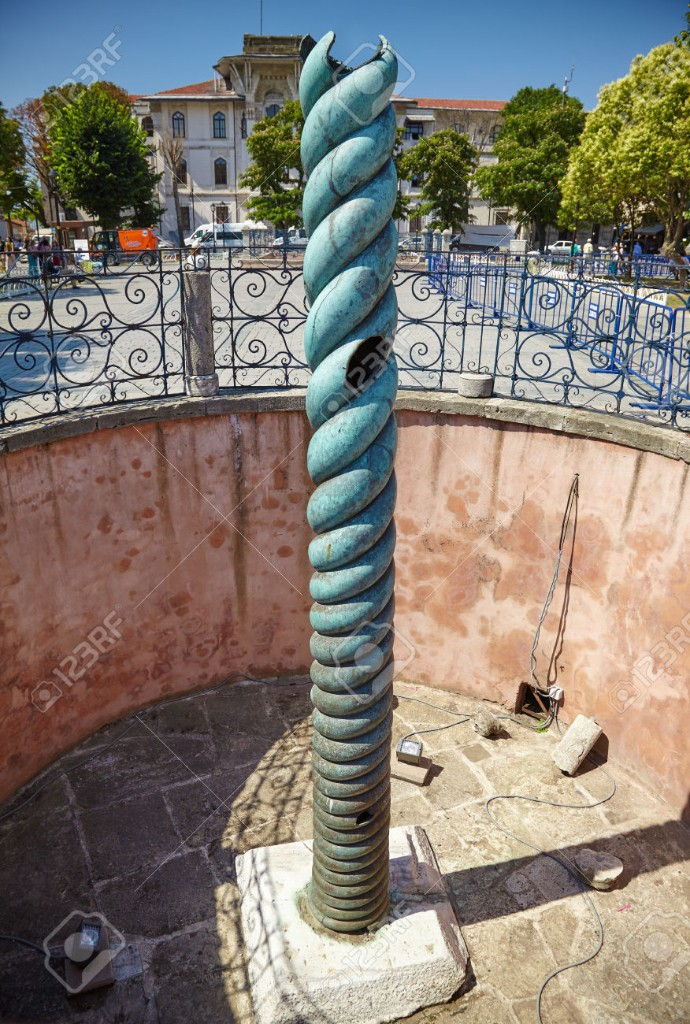 The Serpent Column on the Hippodrome of Istanbul